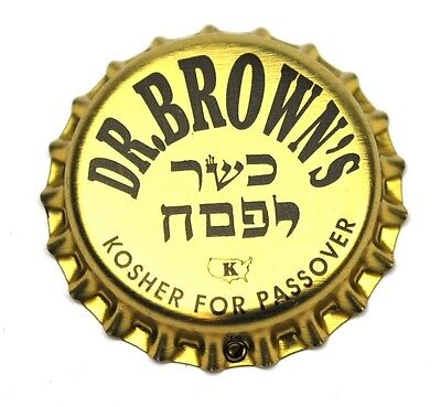 Dr. Brown's Kosher Soda Bier Kronkorken USA Bottle Cap Plastikdichtung