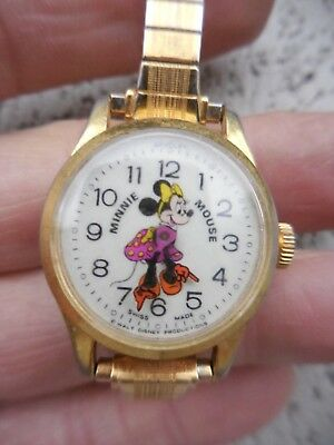 Nice Vintage Bradley Minnie Mouse Watch - Works Great