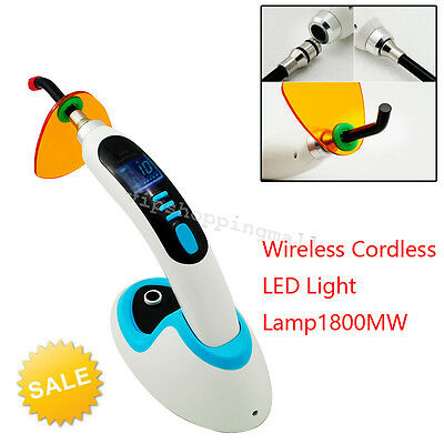 CE 10W Wireless Cordless LED Dental Curing Light Lamp Tooth Whitening 2000MW