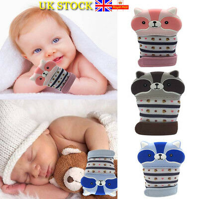 Baby Silicone Mitts Teething Mitten Glove Grinding Soft Teether Chew Dummy Toy