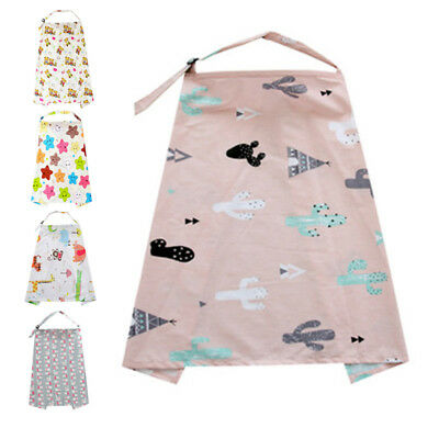 Shawl Nursing Cover Baby Car Seat Apron SOFT Cotton Blanket Cloth New Floral