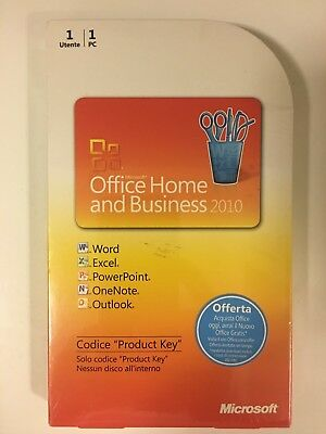 Office Home & Business 2010 32/64 Bit Product Key Card (PKC) Medialess T5D-00304