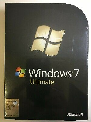 Microsoft Windows 7 Ultimate 32/64 bit Sealed Retail Box FQC-00225 Italian DVD