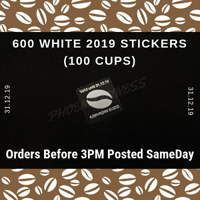 600 McDonalds White 2019 Coffee Bean Stickers = 100 Hot Drinks  - Valid 31/12/19