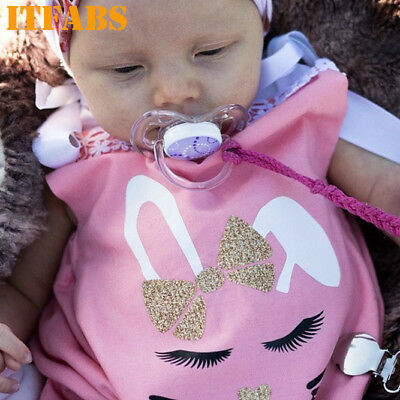 2bf689aa73ce6 BABY LITTLE GIRL Clothes Rabbit Outfits Kids Easter Princess 3-6-12 ...