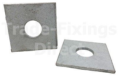 M10 /& M12-40mm x 40mm 5mm VERY THICK HEAVY DUTY ZINC SQUARE PLATE WASHERS