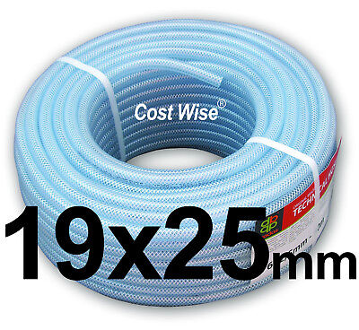 19mm ID CLEAR PVC BRAIDED HOSE-FOOD GRADE-OIL/WATER/GASES- REINFORCED PIPE TUBE