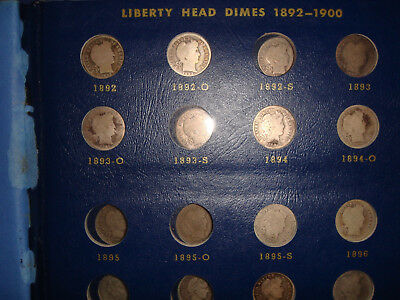 1892-1916 Barber Liberty Dime Collection Set