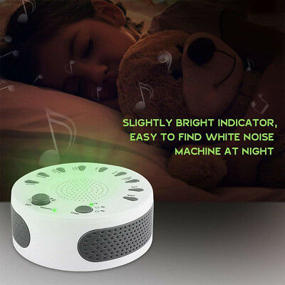 Baby Kids Adult Sleep Sound Machine Scientific Therapy White Noise