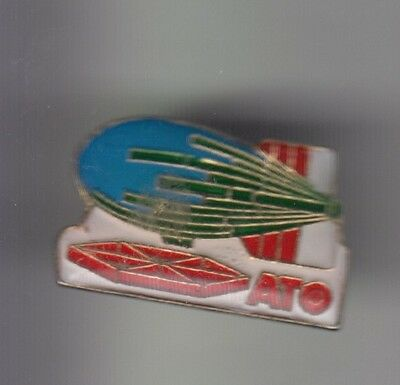 Rare Pins Pin's .. Ballon Hot Air Balloon Dirigeable Oil Petrole Ato Elf ~C3