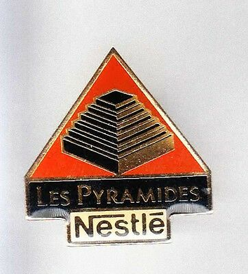 Rare Pins Pin's .. Aliment Food Chocolat Sucre Nestle France Pyramides ~Am