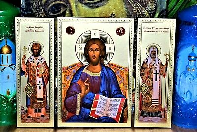 Triptych Moscow Ancient Sretensky Monastery, Lord Almighty HolyTikhon, Hilarion