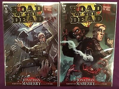 Road of the Dead #1 Cover A & B Variant NM Highway to Hell IDW 2 Book Lot / Set