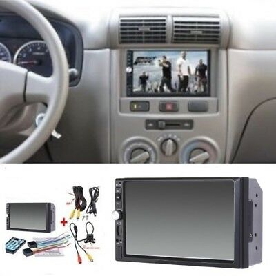 1x7 inch 2DIN Car MP5 Player Bluetooth Touch Screen Stereo Radio HD+Rear Camera