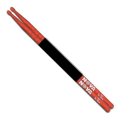 Vic Firth Nova 7A Hickory drum sticks in red with wood tip. N7AR