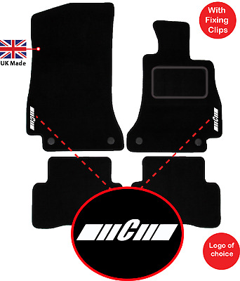Mercedes C Class Auto W205 2014 onwards Tailored Car Mats Leather logo 4 clips