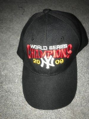 16b833d3dd8 New York Yankees World Series Champions 2009 Black Adjustable Cap