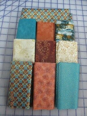 Awesome Metallic Gold On Aqua & Cream Disappearing 9 Patch Quilt Top Kit