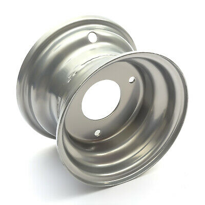 Silver Wheel Rim 6'' 6 Inch 145x70-6 Gokart 160cc 200cc 54mm Central Hole Kart