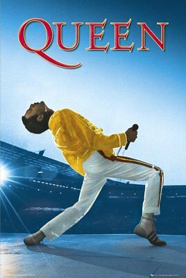 Queen Freddie Mercury at Wembley MAXI POSTER SIZE size 91.5 x 61cm  LP1157