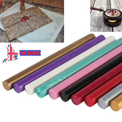5Pcs Vintage Seal Sealing Wax Stick for Melting Gun Stamp Envelope Invitation UK