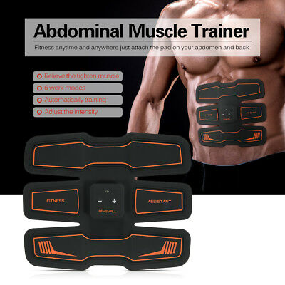 Abdominal Trainer Waist Support Rechargeable Muscle Toner Massager Fitness Tools