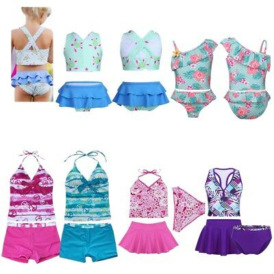 Toddler Kid Baby Girls Tankini Bikini Set Swimwear Swimsuit Bathing Suit 18M-16Y