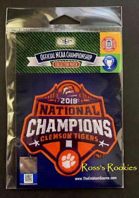 2018 Clemson Tigers Official Ncaa National Champions Patch - Trevor Lawrence