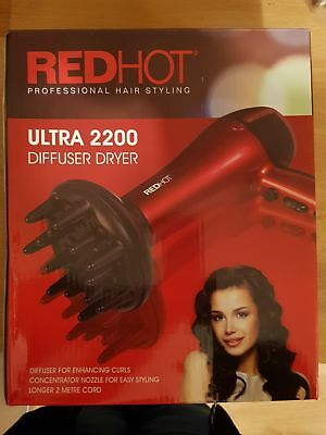 Red Hot Ultra 2200w Diffuser Professional Hair dryer 37010