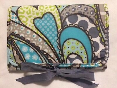 Thirty One 31 Fold & Go Organizer Planner Checks Painted Floral Trifold Note Pad