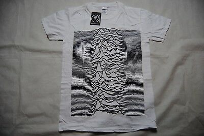 Joy Division Unknown Pleasures White T Shirt New Official She's Lost Control