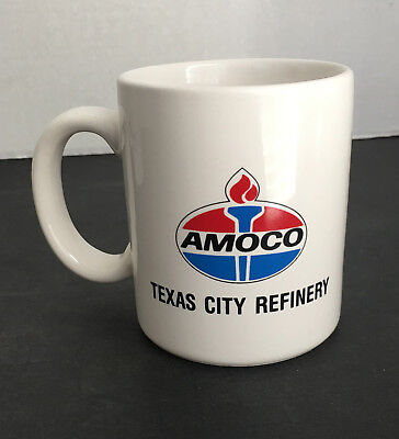 Amoco Oil and Gas Coffee Cup Advertising Fluor Daniel - Brown & Root