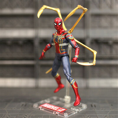 "US! Avengers Infinity War Iron Spider Man Marvel Action Figure 7"" Toy Fans Gifts"