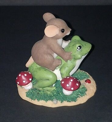 """Charming Tails """"You Make Me Hoppy"""" Mouse Frog Mushroom 88/133 EXCELLENT COND."""