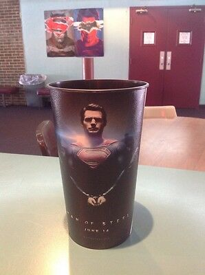 Man Of Steel 44oz Plastic Movie Theater Cup Brand New!