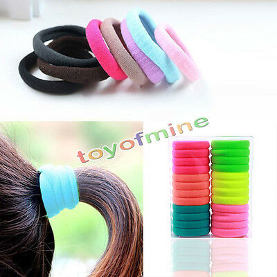 10Pcs Kids Girl Lady Elastic Rubber Hair Bands Ponytail Holder Head Rope Ties