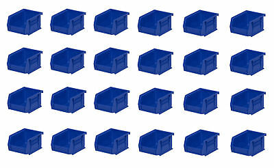 Genuine Akro-Mils Parts Bins 5-3/8D x 4-1/8W x 3H Blue 24 pack. FREE SHIPPING!