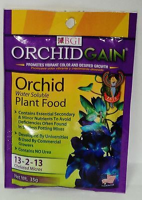 1 Package Of BGI Orchid GAIN Water Soluble Plant Food Fertilizer 13-2-13
