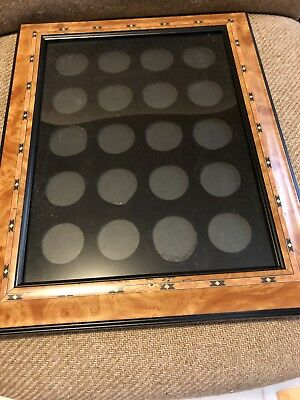 20 casino poker coin chip display case holder easy to add or remove items