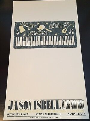 Jason Isbell Hatch Show Print - Nashville, TN - Ryman Auditorium - Night 6