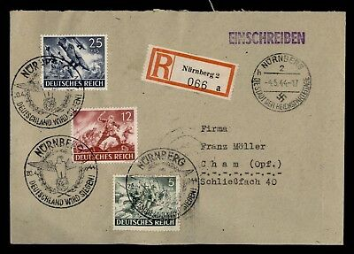 Dr Who 1944 Germany Nuremberg Registered Pictorial Cancel C68187
