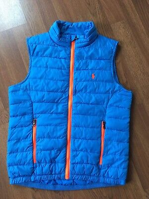 Polo Ralph Lauren Zip Up Puff Vest Boys M (10-12)