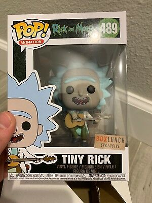 Funko POP! Rick and Morty TINY RICK With Guitar #489 Box Lunch MINT-New In Hand!