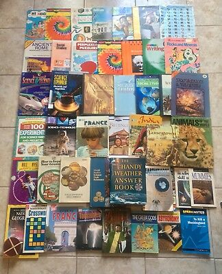 Huge Lot of 44 Middle School Books Science Social Studies History English Math