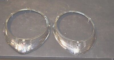 OEM Pair/Set of 1950s Vintage Hudson Headlight Bezels