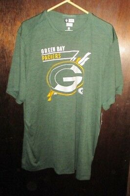 2xl XXL NFL TEAM APPAREL GREEN BAY PACKERS TEE SHIRT NEW NWT POLYESTER be5e9c71b