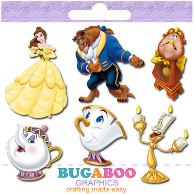 Beauty and the Beast Birthday Party Cut Outs Centerpieces Set Party Decor
