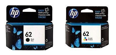 HP 62 Black & Tri-Color Ink Cartridge Combo C2P04AN C2P06AN Genuine New