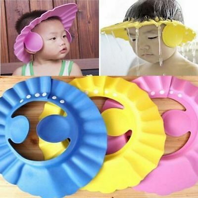 1PC Safe Shampoo Baby Shower Cap Bathing Bath Protect Cap Hat For Baby Kids GUT