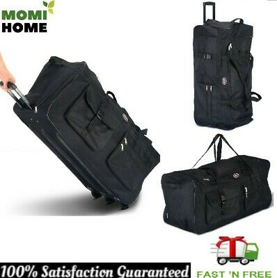 Travel Duffle Bag Women with Wheels Sports Rolling Duffle Luggage Suitcase 36""